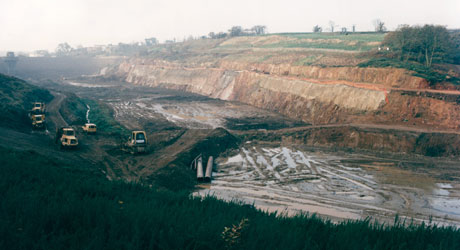 Queens Valley Reservoir under construction in the early 1990's
