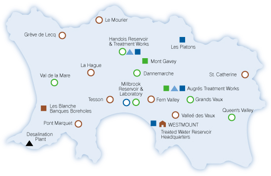 Company Location Map Jersey Water
